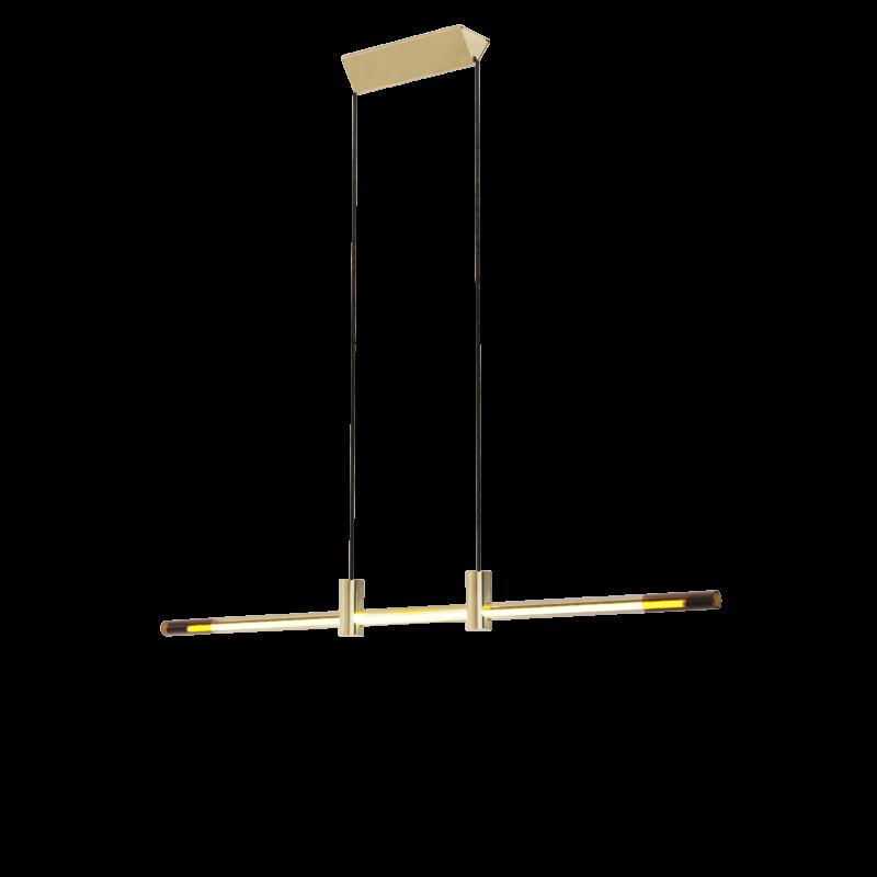 Studio d'Armes Ra Suspension Hand Bent Neon Brass Pendant